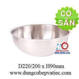 Tô inox trộn salad 220mm