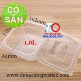 Khay nhựa có nắp GN 1/6x65 đựng topping
