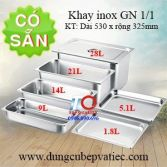 Khay GN 1/1, khay inox