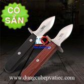 Dao cạy hàu cán gỗ inox