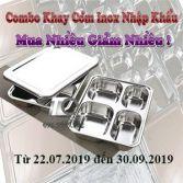Khay cơm inox nhập khẩu - Khuyến mãi Combo