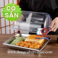 Nắp nhựa cong đậy khay thức ăn búp phê GN 1/2
