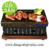 Đá nướng thịt trên lò gang Nhật