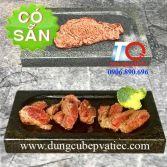 Tấm đá núi lửa vuông nướng thịt