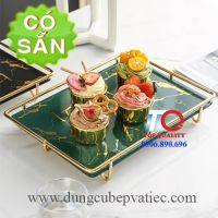 Khay sứ trưng bày bánh - trái cây - sushi