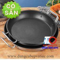 Chảo inox 304 size lớn dùng bếp từ