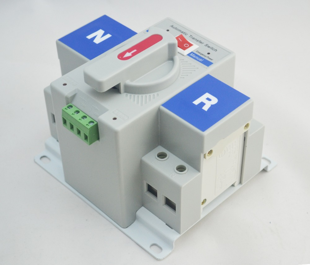 2P-63A-230V-MCB-type-white-color-Dual-Power-Automatic-transfer-switch-ATS-Rated-voltage-220V