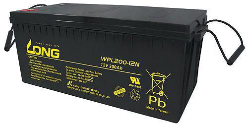 Bình Ác Quy Khô LONG 12V-200AH (WPL200-12N)