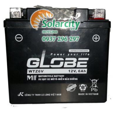 Ắc quy xe máy Globe  12V- 6Ah (WTZ6V)