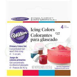 Màu Wilton Set 4 Màu Vàng, Đỏ, Xanh, Nâu
