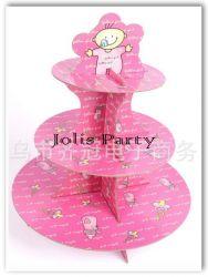Giá để cupcake bằng bìa - baby girl