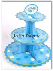 Giá để cupcake bằng bìa - birthday boy