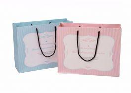 Túi Giấy Kẻ Hồng 1003a-2 ( 21*20*8cm)