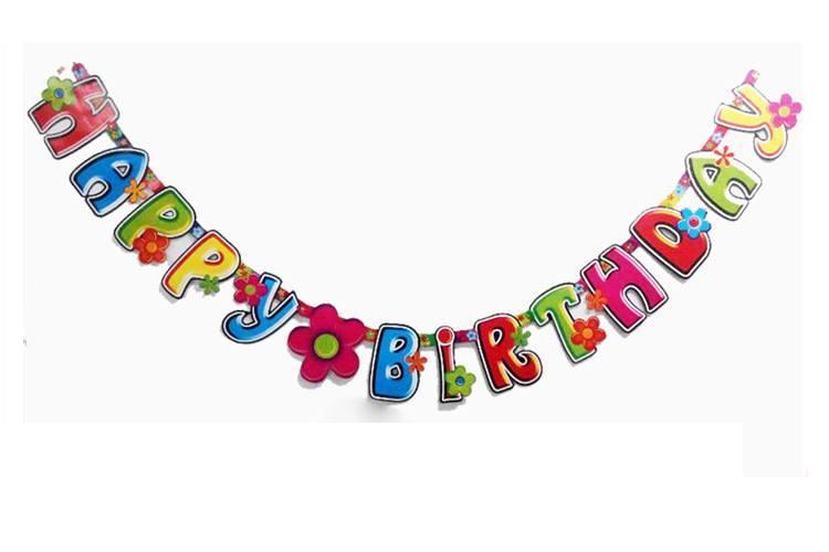 Dây Chữ Happy Birthday ( Mẫu Ngẫu Nhiên )