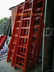 Thang cáp 300x100 sơn tĩnh điện màu cam loại không nắp