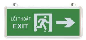 Đèn exit thoát nạn chỉ phải