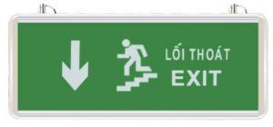 Đèn exit thoát nạn chỉ xuống
