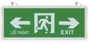 Đèn exit thoát nạn chỉ 2 hướng