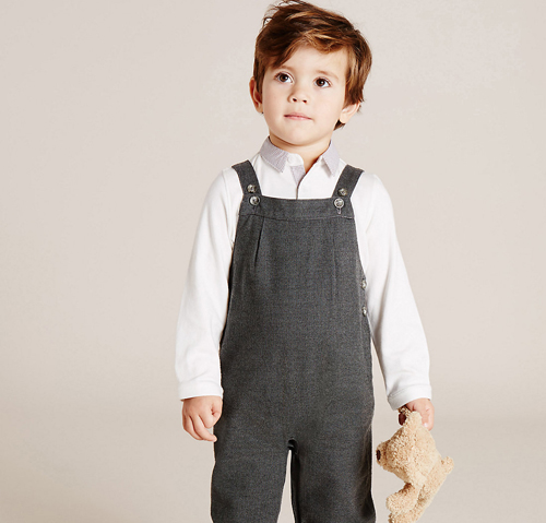 Boys Wool Blend Dungarees (3 Months - 3 Years)