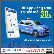 """Dùng App Sông Lam Taxi Ưu đãi đến 30% , Không lo về giá , thoải mái """"la cà""""!"""