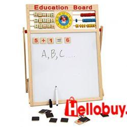 BẢNG TỪ 2 MẶT EDUCATION BOARD VÀ BỘ CHỮ SỐ GỖ GẮN NAM CHÂM