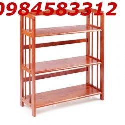 kệ sách 3 tầng 90 KSG3T90 gỗ tự nhiên