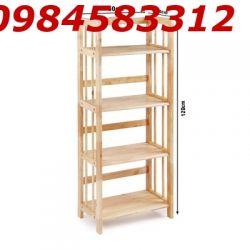 kệ sách 4 tầng 50 KSG4T50 gỗ tự nhiên