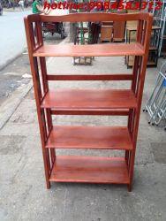 kệ sách 4 tầng 65 KSG4T65 gỗ tự nhiên