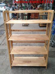 kệ sách 4 tầng 80 KSG4T80 gỗ tự nhiên