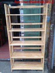 kệ sách 5 tầng 90 KSG5T90 gỗ tự nhiên
