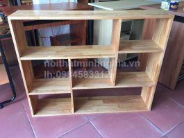 giá sách treo gỗ cao su 100x80x20