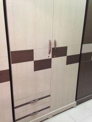 tủ áo gỗ công nghiệp dán simili 120x200 2 ngăn kéo ngoài