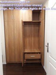 tủ áo gỗ công nghiệp 4 cánh ngăn kép âm bên trong 160x240cm