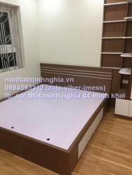 giường gỗ công nghiệp 160x200 có ngăn kéo