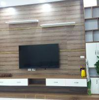 KỆ TI VI gỗ công nghiệp treo tường