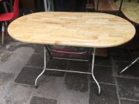 bàn ăn chân gấp gọn mặt gỗ cao su chân inox