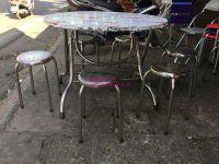 bàn ăn tròn inox phi 100cm