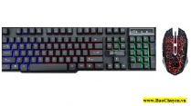 Bộ bàn phím chuột giả cơ chuyên Game Led 7 màu RiMax K88(Đen)