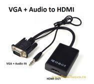 Cáp chuyển đổi VGA + Audio sang HDMI ( VGA to HDMI)