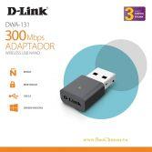 D-Link DWA-131: thiết bị thu sóng Wireless Nano USB Chính Hãng