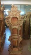 Đồng hồ nghê đỉnh gỗ hương vân cao 2m1