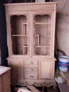 tủ rượu góc gỗ hương vân 1m2
