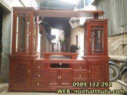 Kệ tivi cục kính gỗ vernia xoan đào