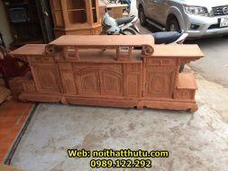 Kệ tivi kiểu mới vòm và cánh gỗ ( Gỗ Hương Đá)