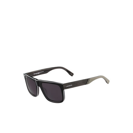 LACOSTE BLACK LT12 SUNGLASSES WITH WOOD EFFECT 001