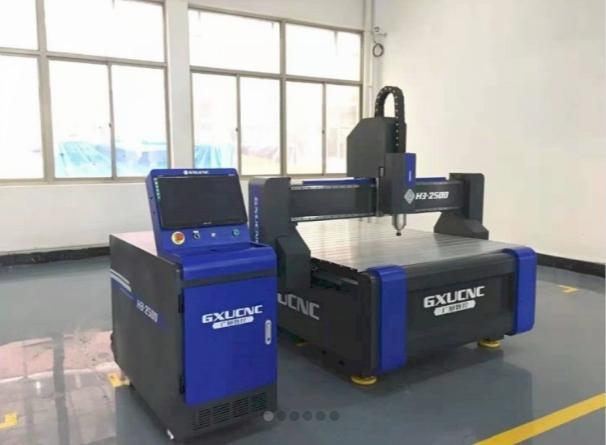 Máy cắt khắc CNC GXU H3- 2500 5.5KW Có tủ,Có hút chân không, có chặn vật liệu