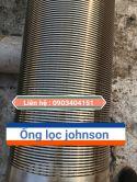 ỐNG LỌC JOHNSON INOX 304 DÙNG CHO GIẾNG KHOAN