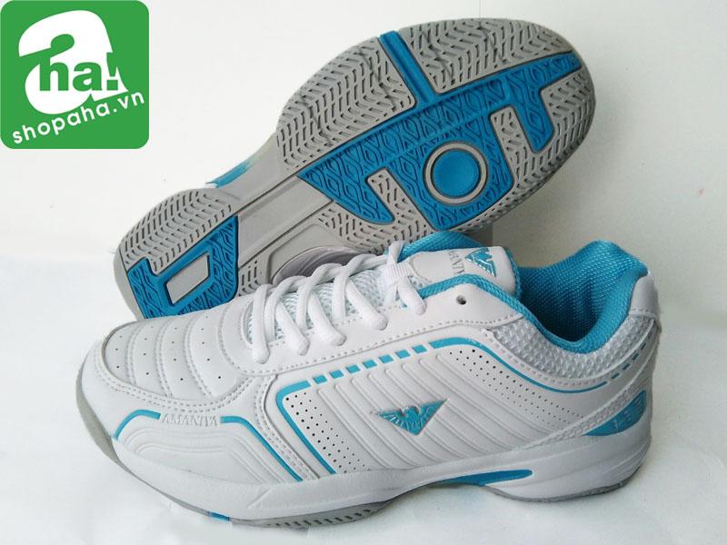 Giày Tennis Nữ Màu Trắng Xanh TNB05