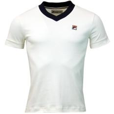 áo FiLa trắng cổ tim
