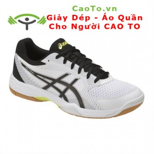 Giày Thể Thao Big Size  Asics Gel-Task 2 Indoor In White